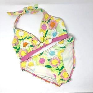 Lilly Pulitzer Swim Floral Print Halter Bikini US6
